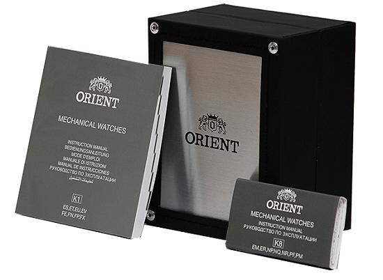 hop dong ho orient chinh hang - Đồng hồ Orient FEV0J001GY Automatic - Nam - Dây kim loại